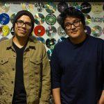 two men in the studio